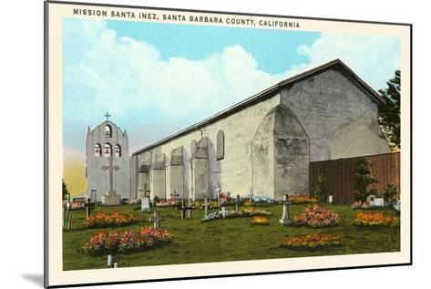 Santa Inez Mission, California--Mounted Art Print