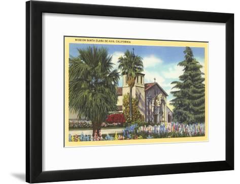 Santa Clara de Asis Mission, California--Framed Art Print
