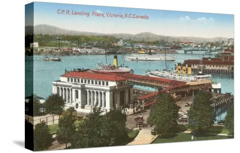 CPR Landing Place, Victoria, British Columbia--Stretched Canvas Print