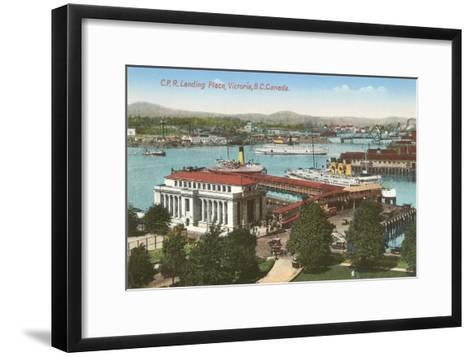 CPR Landing Place, Victoria, British Columbia--Framed Art Print