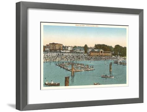 Swimmers at English Bay, Vancouver, British Columbia--Framed Art Print