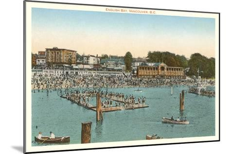 Swimmers at English Bay, Vancouver, British Columbia--Mounted Art Print