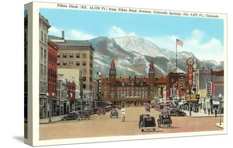Pike's Peak, Colorado Springs, Colorado--Stretched Canvas Print