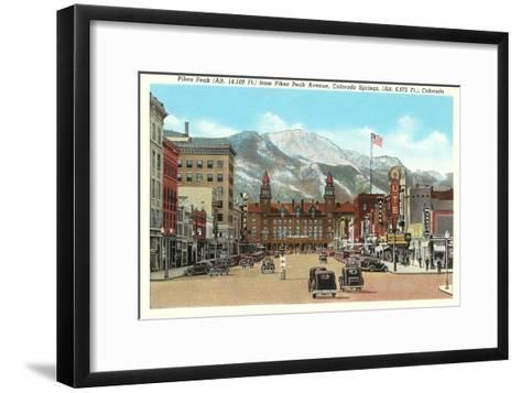 Pike's Peak, Colorado Springs, Colorado--Framed Art Print