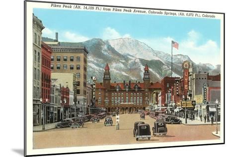 Pike's Peak, Colorado Springs, Colorado--Mounted Art Print