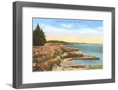 Along West Cliff Drive, Santa Cruz, California--Framed Art Print
