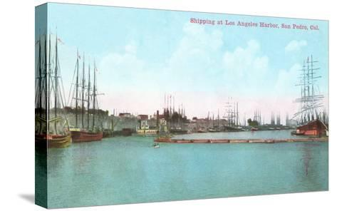 Harbor at San Pedro, California--Stretched Canvas Print