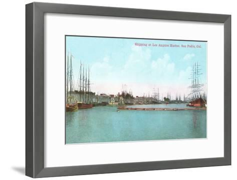 Harbor at San Pedro, California--Framed Art Print