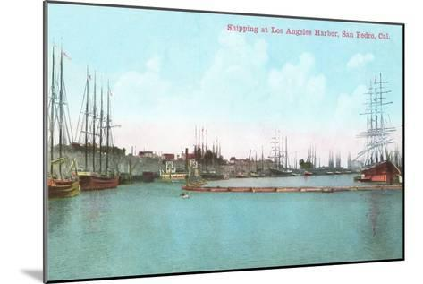 Harbor at San Pedro, California--Mounted Art Print