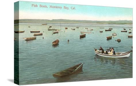 Fishing Boats, Monterey Bay, California--Stretched Canvas Print