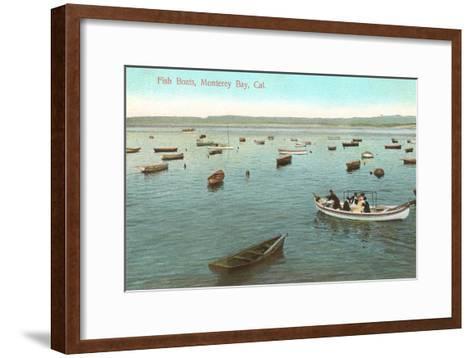 Fishing Boats, Monterey Bay, California--Framed Art Print