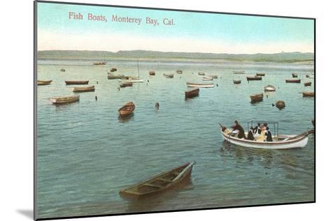Fishing Boats, Monterey Bay, California--Mounted Art Print
