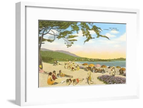 The Beach at Carmel--Framed Art Print