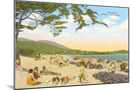 The Beach at Carmel--Mounted Art Print