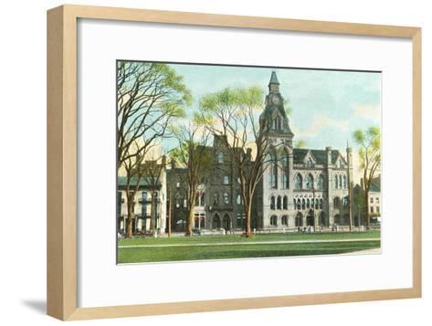 Courthouse, New Haven, Connecticut--Framed Art Print