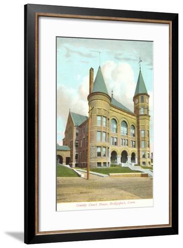 Courthouse, Bridgeport, Connecticut--Framed Art Print