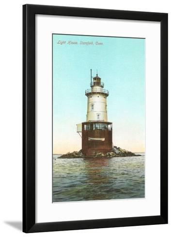 Lighthouse, Stamford, Connecticut--Framed Art Print