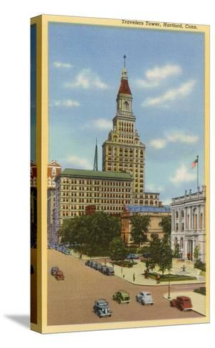 Travelers Tower, Hartford, Connecticut--Stretched Canvas Print