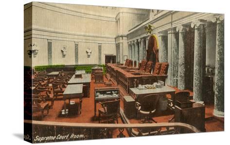 Supreme Court Room, Washington D.C.--Stretched Canvas Print