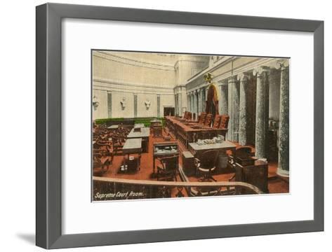 Supreme Court Room, Washington D.C.--Framed Art Print