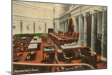 Supreme Court Room, Washington D.C.--Mounted Art Print