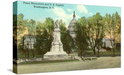 Peace Monument, Capitol, Washington D.C.--Stretched Canvas Print