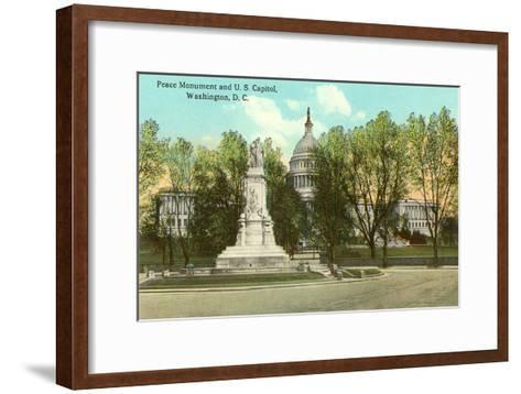 Peace Monument, Capitol, Washington D.C.--Framed Art Print