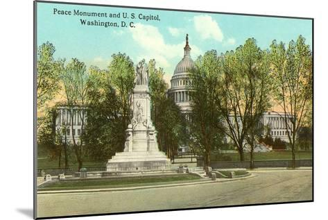 Peace Monument, Capitol, Washington D.C.--Mounted Art Print