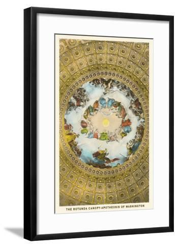 Rotunda Canopy, Capitol, Washington D.C.--Framed Art Print