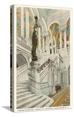 Grand Staircase, Library of Congress, Washington D.C.--Stretched Canvas Print
