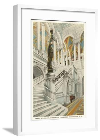 Grand Staircase, Library of Congress, Washington D.C.--Framed Art Print