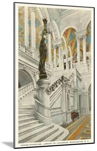 Grand Staircase, Library of Congress, Washington D.C.--Mounted Art Print
