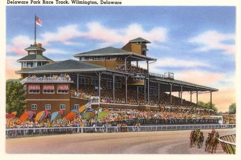 Delaware Park Race Track, Wilmington, Delaware--Stretched Canvas Print