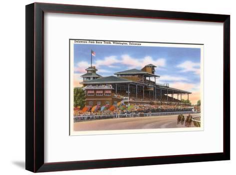 Delaware Park Race Track, Wilmington, Delaware--Framed Art Print