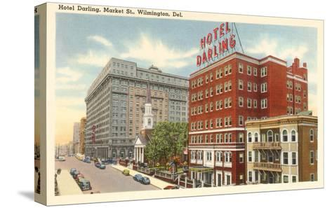 Hotel Darling, Wilmington, Delaware--Stretched Canvas Print