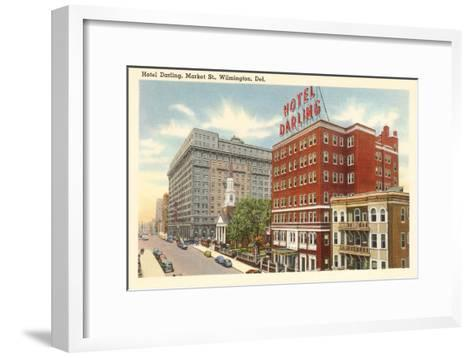 Hotel Darling, Wilmington, Delaware--Framed Art Print