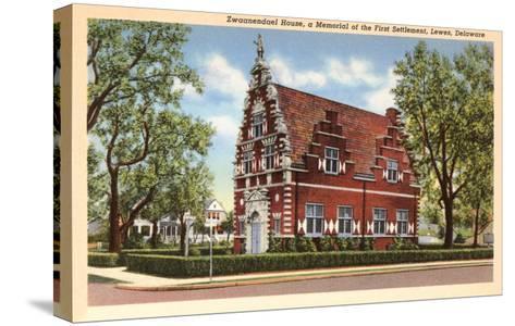 Zwaanendael House, Lewes, Delaware--Stretched Canvas Print