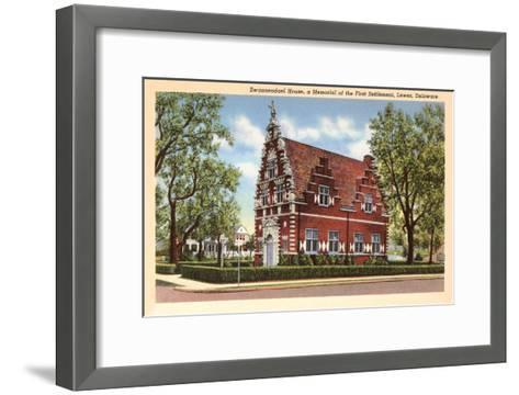 Zwaanendael House, Lewes, Delaware--Framed Art Print