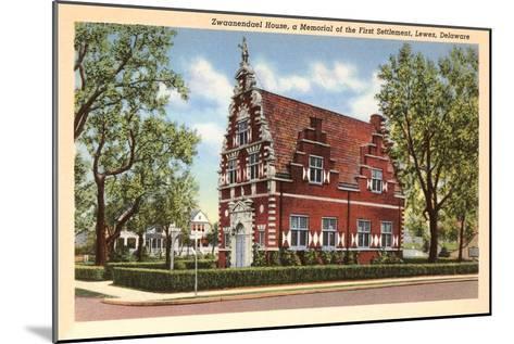 Zwaanendael House, Lewes, Delaware--Mounted Art Print