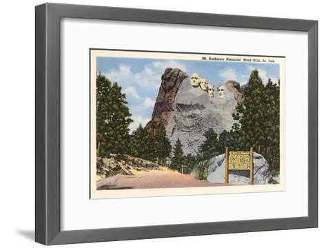 Mt. Rushmore, South Dakota--Framed Art Print