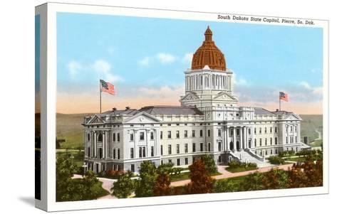 State Capitol, Pierre, South Dakota--Stretched Canvas Print