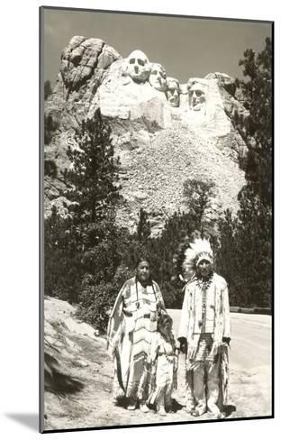 Indians in front of Mt. Rushmore, South Dakota--Mounted Art Print