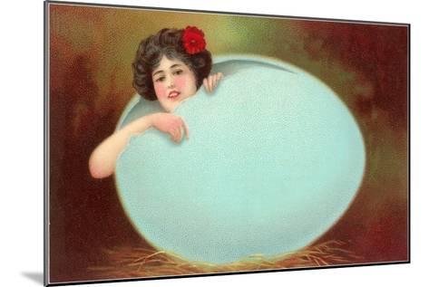 Girl Emerging from Cracked Egg--Mounted Art Print