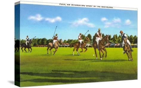 Polo Game--Stretched Canvas Print