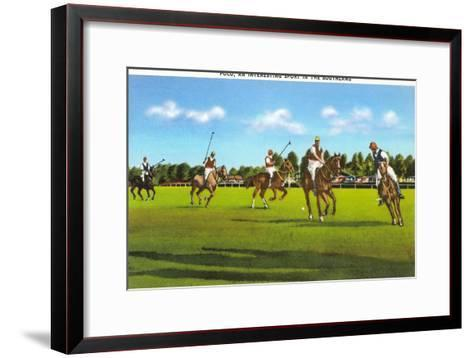 Polo Game--Framed Art Print