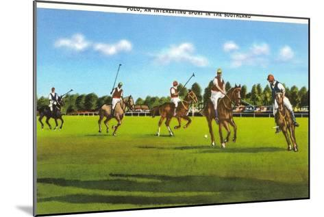 Polo Game--Mounted Art Print
