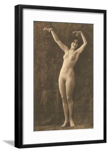 Exotic Vintage Nude--Framed Art Print