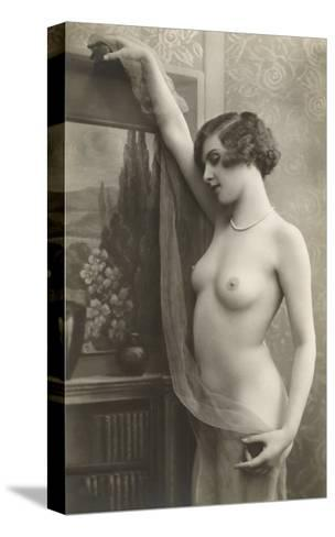 Exotic Vintage Nude--Stretched Canvas Print