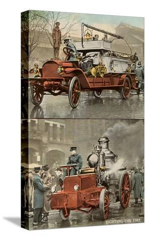 Early Fire Equipment--Stretched Canvas Print
