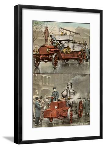 Early Fire Equipment--Framed Art Print